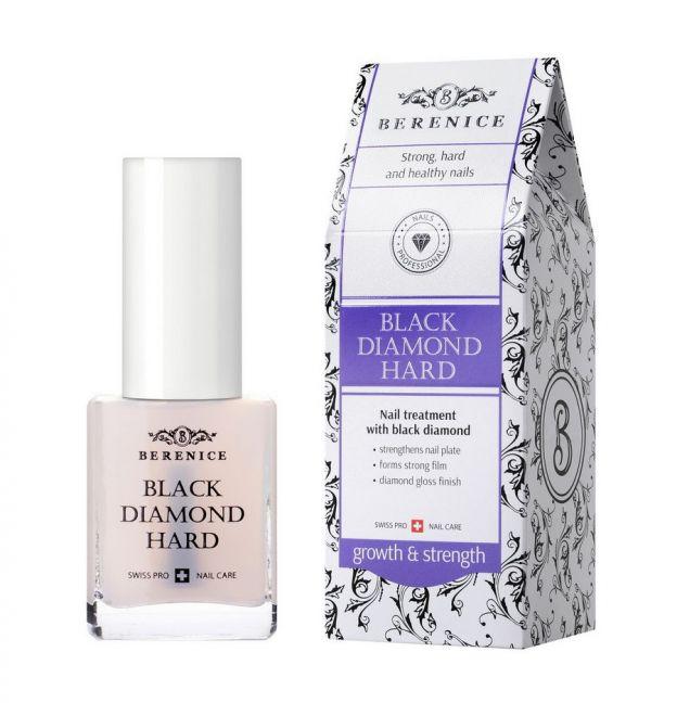 Berenice Black Diamond Hard Средство для укрепления ногтей с частицами чёрного алмаза, фото
